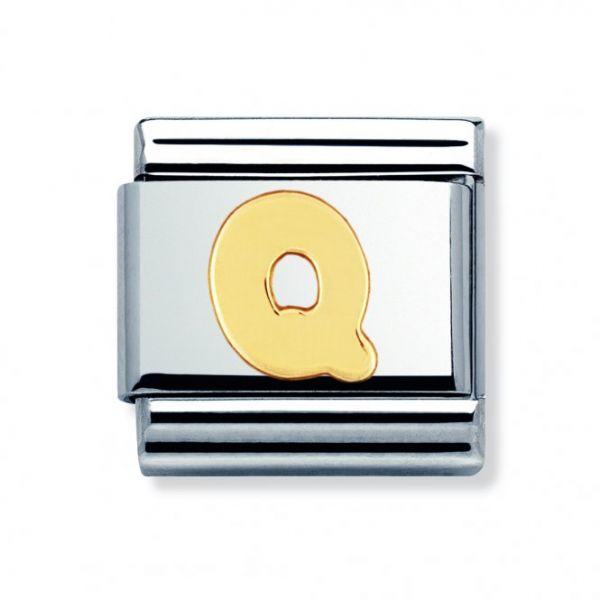Nomination 030101/17 Charm Classic Gold Buchstabe Q