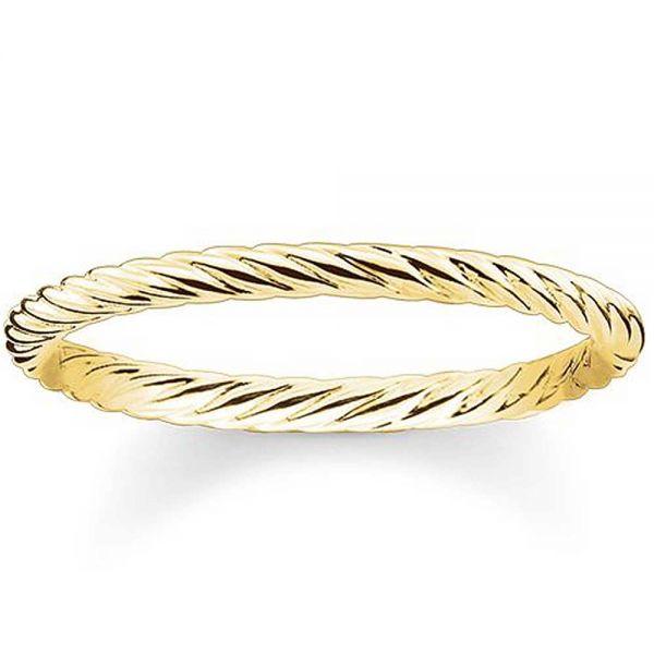 Thomas Sabo TR2121-413-12 Ring Kordeloptik Sterling-Silber Gelbgold