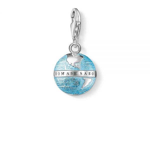 Thomas Sabo 0754-007-1 Charm-Anhänger Weltkugel Sterling-Silber