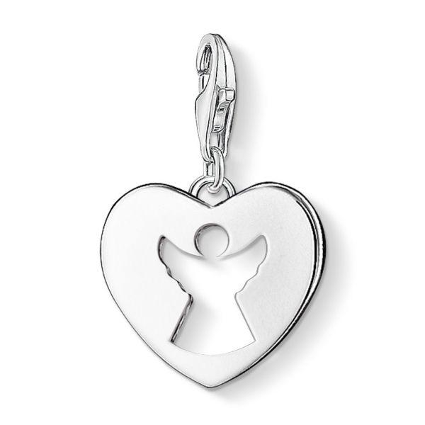 Thomas Sabo 0869-001-12 Charm-Anhänger Schutzengel-Herz Silber