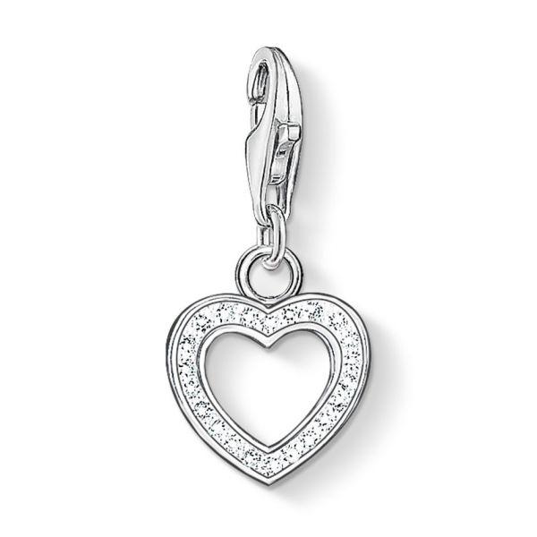 Thomas Sabo 0930-051-14 Charm-Anhänger Herz Sterling-Silber