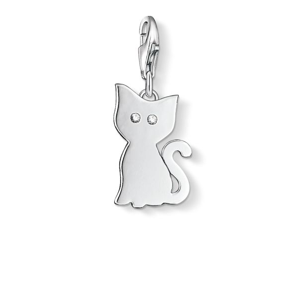 Thomas Sabo 1014-051-14 Charm-Anhänger Katze Sterling-Silber
