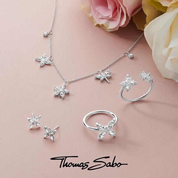 Thomas Sabo EC0023-001-21 Ohrklemme Einzel Damen Kugeln Gekreuzt Sterling-Silber