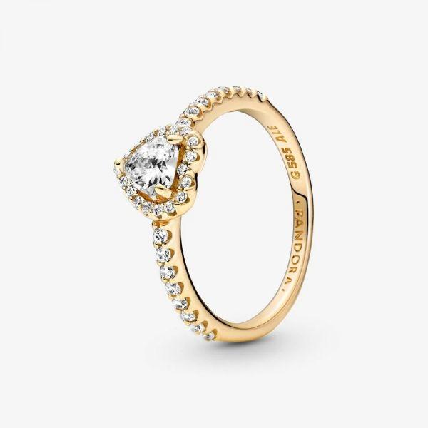 Pandora 159139C01 Ring Damen Erhabenes Herz 14k Gelbgold