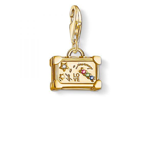 Thomas Sabo 1763-996-7 Charm-Anhänger Vintage-Koffer Silber Vergoldet