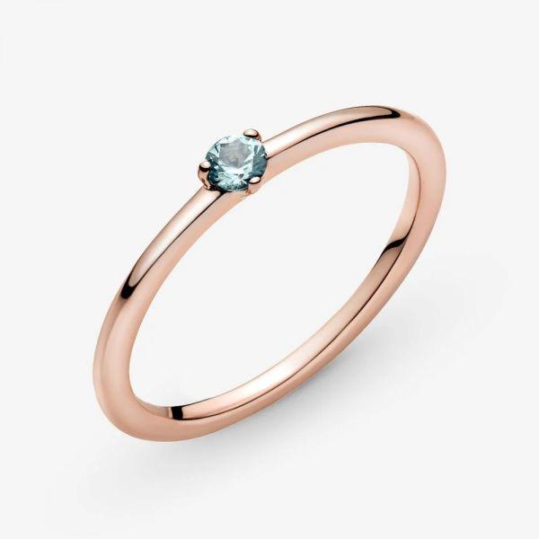 Pandora Rose 189259C02 Solitär-Ring Damen Hellblauer Stein