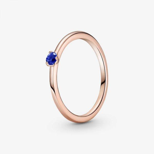 Pandora Rose 189259C04 Solitär-Ring Damen Sternenblauer Stein