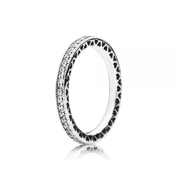Pandora 190963CZ Ring Unendliche Herzen Silber