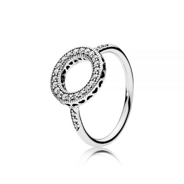 Pandora 191039CZ Ring Damen Funkelnder Strahlenkranz Silber