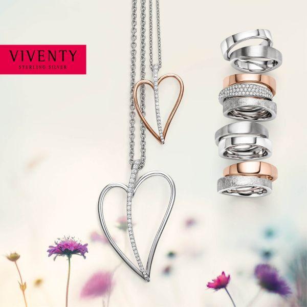 Viventy 776688 Halskette mit Anhänger Damen Topaz Blau Sterling-Silber
