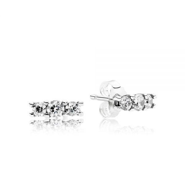 Pandora 290725CZ Ohrstecker Funkelnde Eleganz Sterling Silber