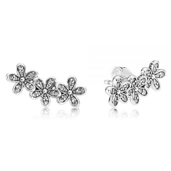 Pandora 290744CZ Ohrstecker Damen Gänseblümchen Sterling Silber