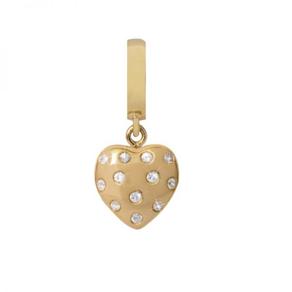 Endless 35800 Charm-Anhänger Million Heart Drop Gelb-Gold Saphir