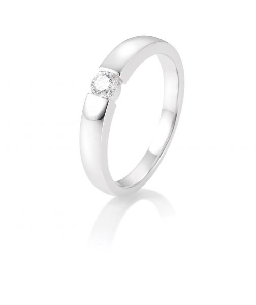 Breuning 41/82128 Ring Brillant 0,15 ct W-si 14 kt Weissgold