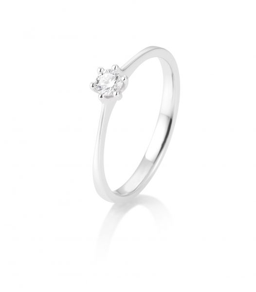 Breuning 41/82143-0 Ring Brillant 0,15 ct W-si 14 kt Weissgold