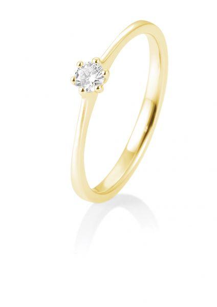 Breuning 41/82144-0 Ring Brillant 0,10 ct W-si 14 kt Gelbgold