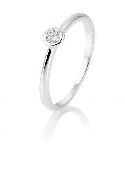 Breuning 41/85127-9 Ring Brillant 0,10 ct W-si 14 kt Weissgold