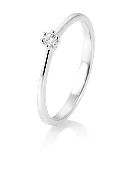 Breuning 41/85770-0 Ring Brillant 0,05 ct W-si 14 kt Weissgold