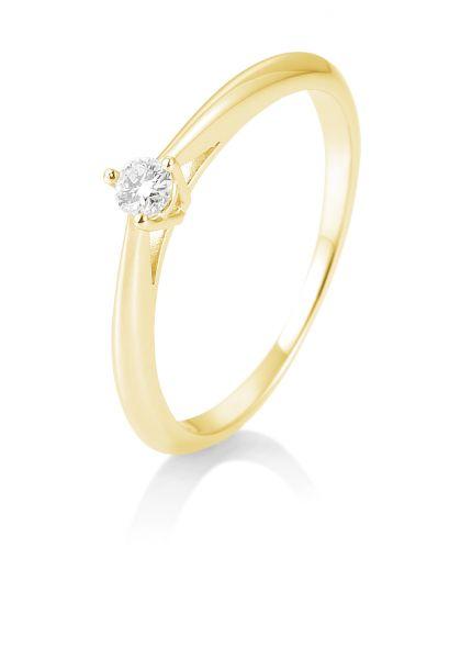 Breuning 41/85806-0 Ring Brillant 0,10 ct W-si 14 kt Gelbgold