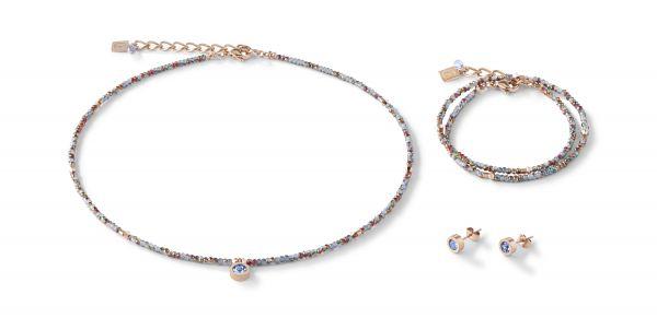 Coeur de Lion 5033/30-0720 Armband Damen Small Crystal Hellblau Roségold