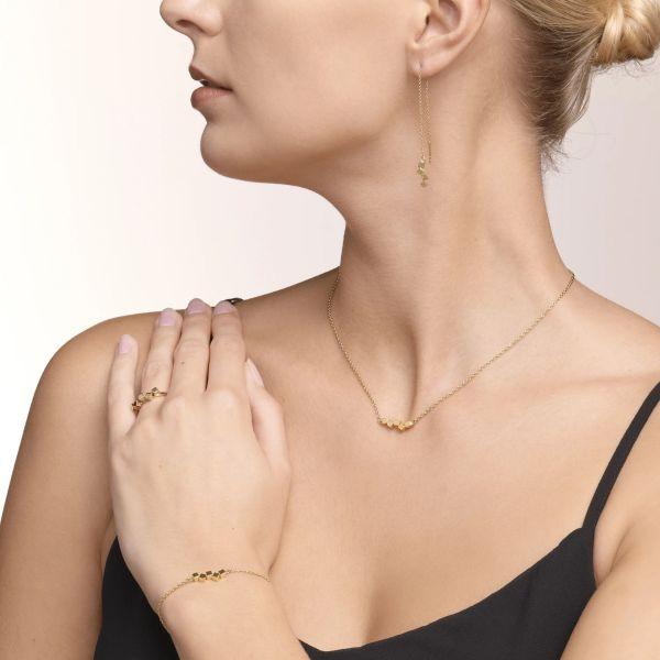 Coeur de Lion 5070/30-1600 Armband Damen Dancing GeoCUBE® Small Edelstahl Gold