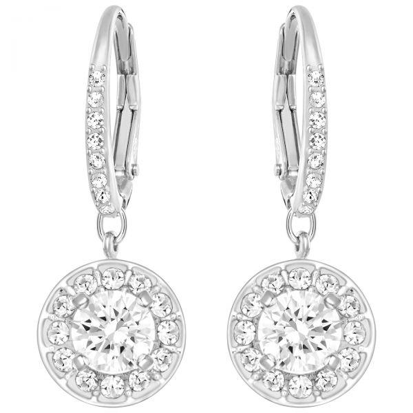 Swarovski 5142721 Ohrringe Damen Attract Light Weiss Silber-Ton