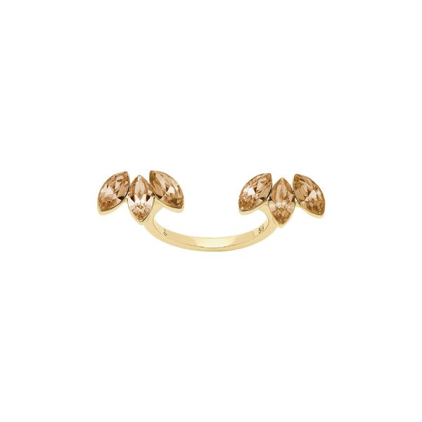 Lola and Grace 5216962 Manschetten-Ring Damen Rainbow Gold-Ton Gr. 55