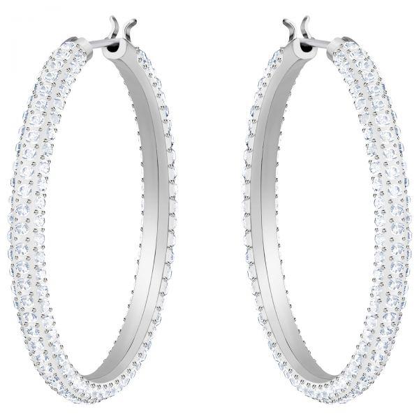 Swarovski 5389432 Creolen Stone Weiss Silber-Ton