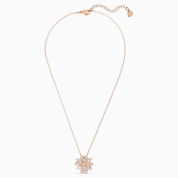 Swarovski 5540973 Halskette mit Anhänger Damen Eternal Flower Rosé Vergoldet