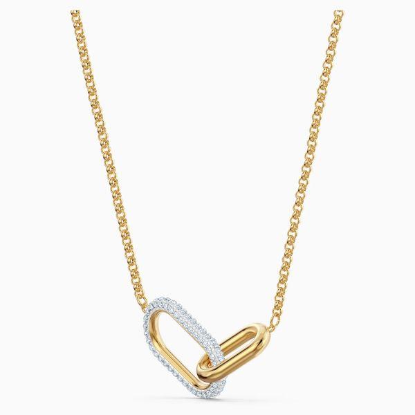 Swarovski 5566227 Halskette mit Anhänger Damen Time Weiss Vergoldet
