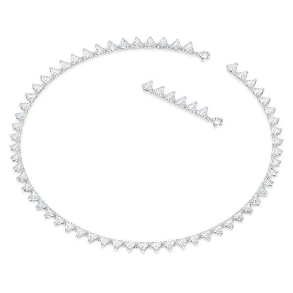 Swarovski 5599191 Halskette Millenia Dreieck Weiss Silber-Ton