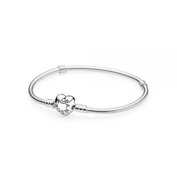 Pandora 590719 Armband Damen Moments Herz Verschluss Silber