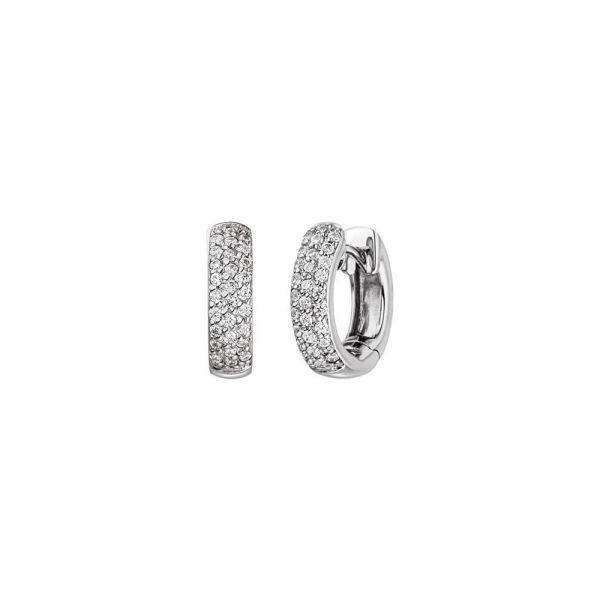 Viventy 762444 Ohrringe Creolen Damen Funkelnde Zirkonia Sterling-Silber