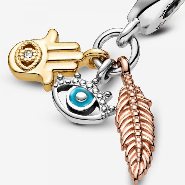 Pandora Rose 768785C01 Charm-Anhänger Hand der Fatima Auge der Vorsehung