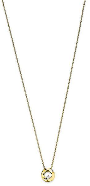 Viventy 784208 Halskette mit Anhänger Collier Damen Zirkonia Silber Vergoldet