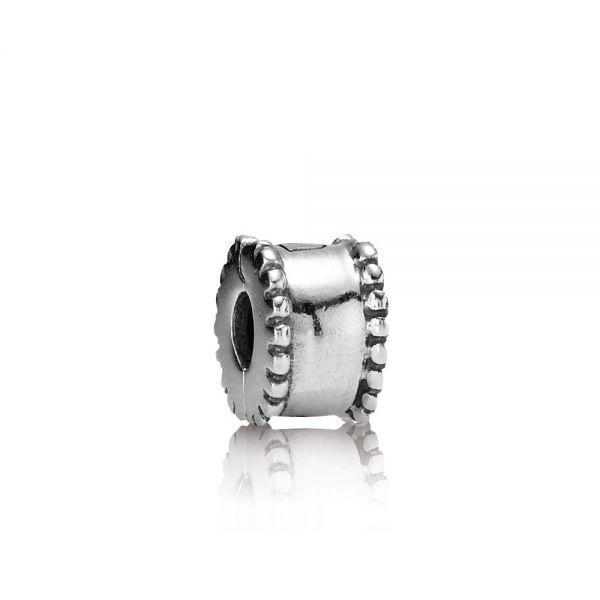 Pandora 790267 Charm Clip Rund mit Metallperlen Sterling-Silber