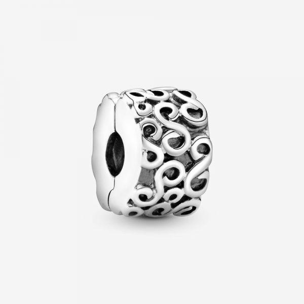 Pandora 790338 Charm Clip Wirbelwind Swirl Serpentine Sterling-Silber