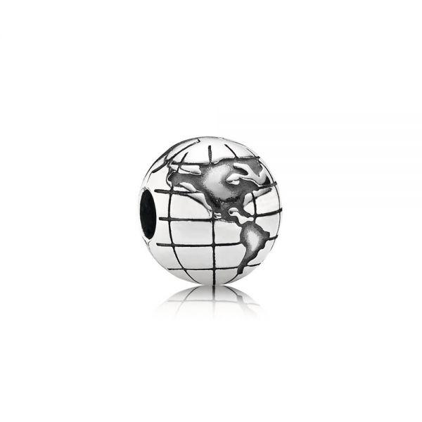 Pandora 791182 Charm Clip Damen Planet Erde Sterling Silber