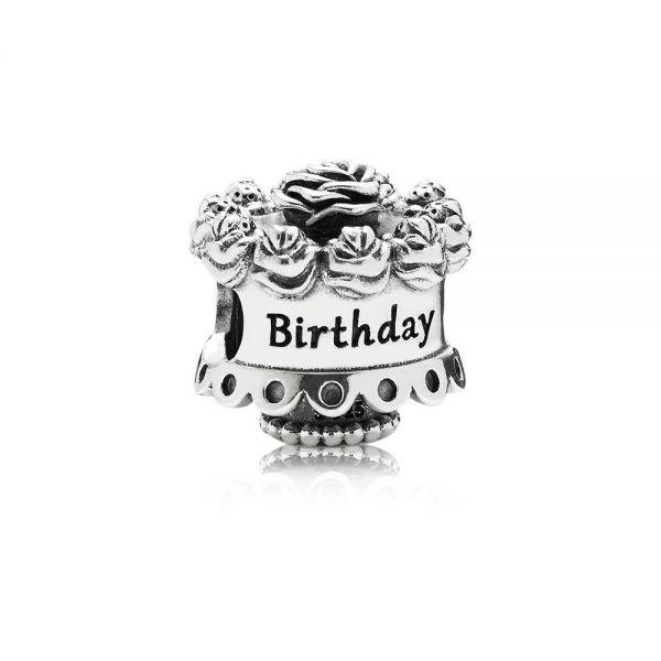 Pandora 791289 Charm Damen Geburtstagskuchen Sterling Silber