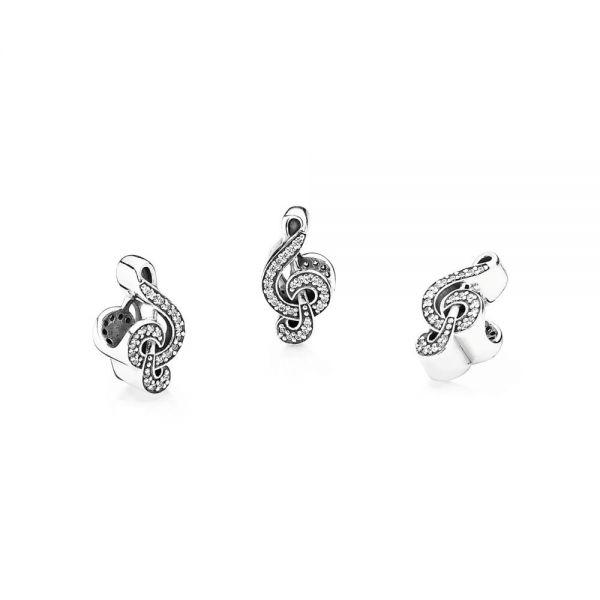 Pandora 791381CZ Charm Sweet Music Violinschlüssel Sterling-Silber
