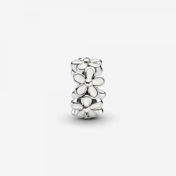 Pandora 791495EN12 Charm Zwischenelement Weiße Gänseblümchen