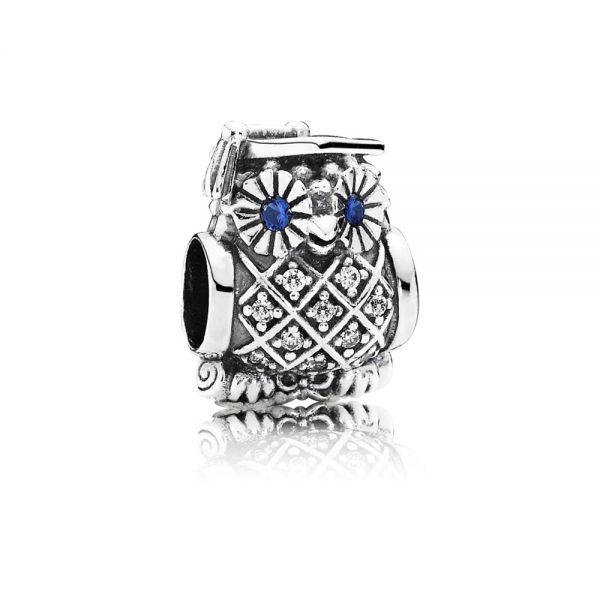 Pandora 791502NSB Charm Schulabschluss Eule Silber