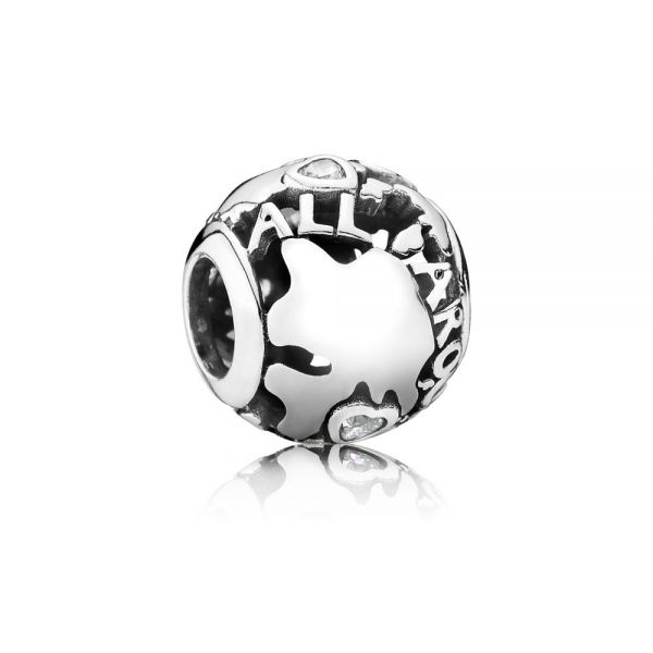 Pandora 791718CZ Charm Damen World Sterling Silber