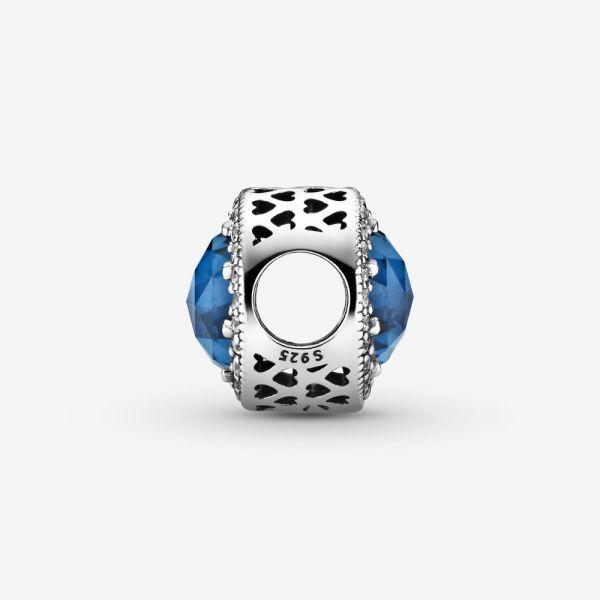 Pandora 791725NMB Charm Mitternachtsblauer Strahlenkranz der Herzen