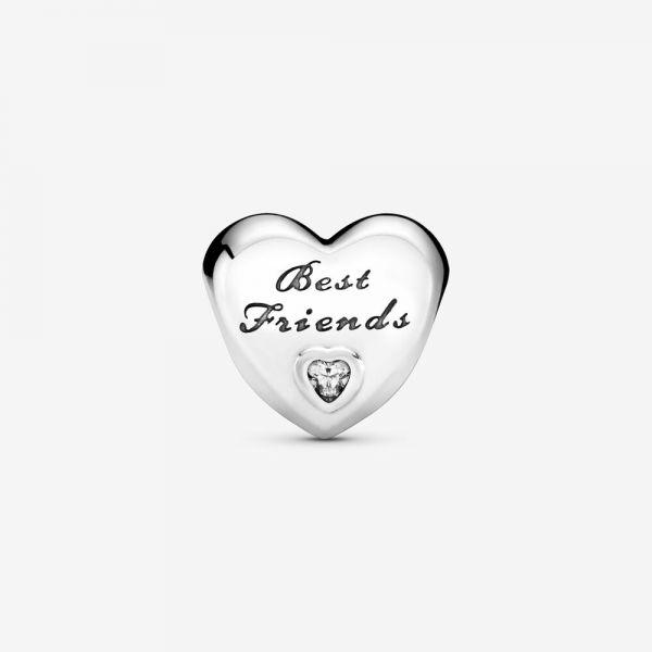 Pandora 791727CZ Charm Damen Best Friends Herz Silber