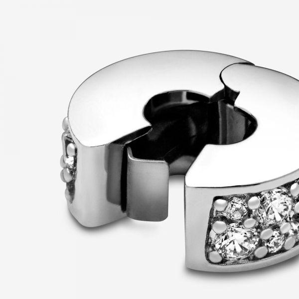 Pandora 791817CZ Charm Clip Pavé-Glanz Sterling Silber
