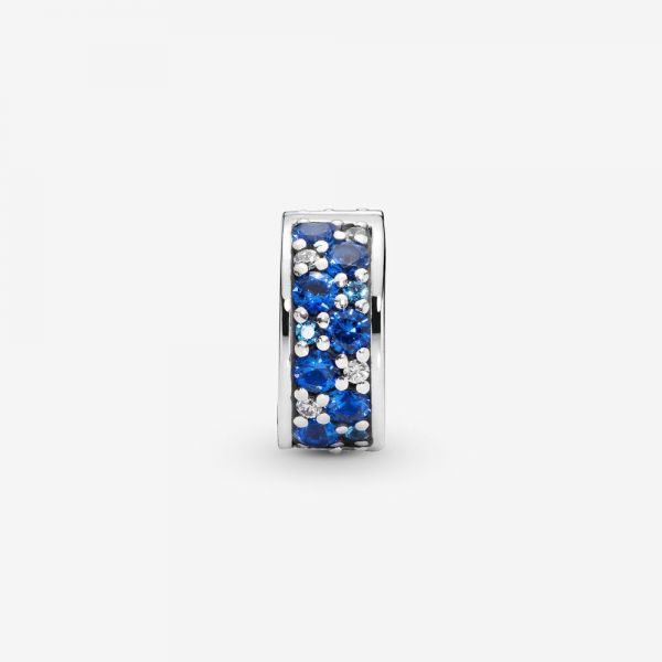 Pandora 791817NSBMX Charm Clip Blauer Pavé Glanz