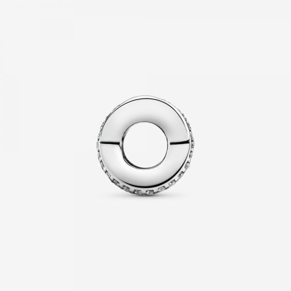 Pandora 791994CZ Charm Funkelnde und Polierte Linien Zwischenelement