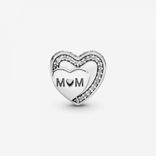 Pandora 792070CZ Charm Damen Mom Mum Herz Sterling Silber