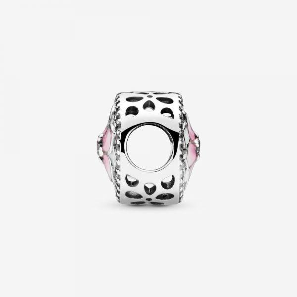 Pandora 792085PCZ Charm Damen Rosafarbene Magnolienblüte